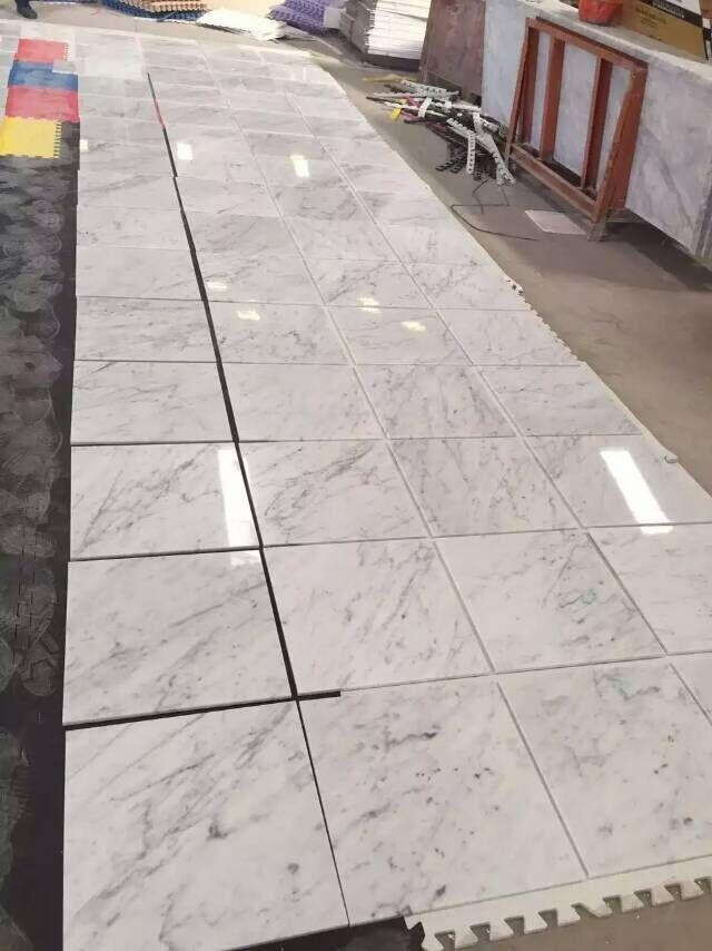 Carrara White Marble Tiles White Polished Marble Stone Flooring Tiles