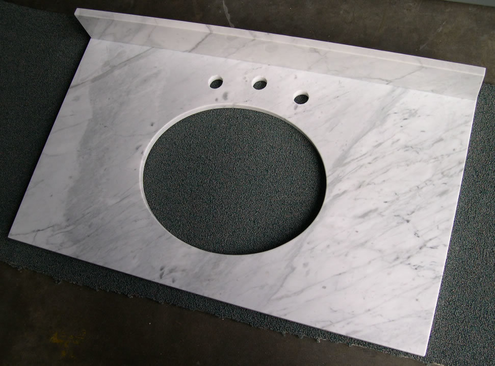Carrara White Marble Vanity Tops