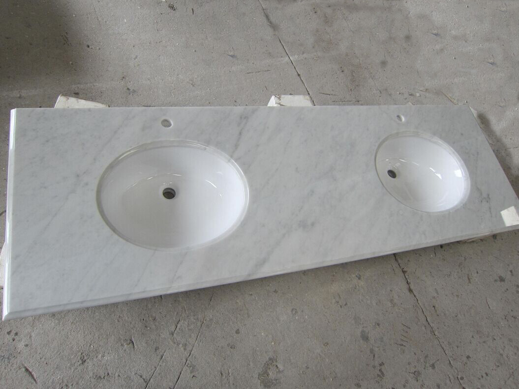 Carrara White Marble Vanity Top from China