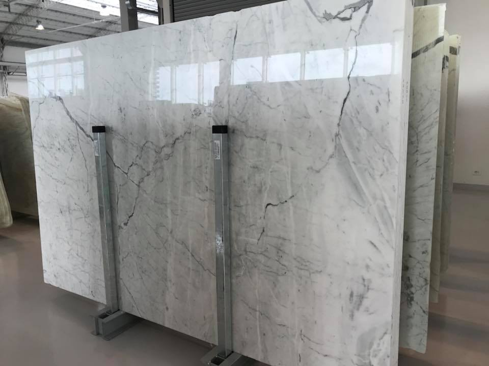 Carrara White Polished Marble Slabs with High Quality