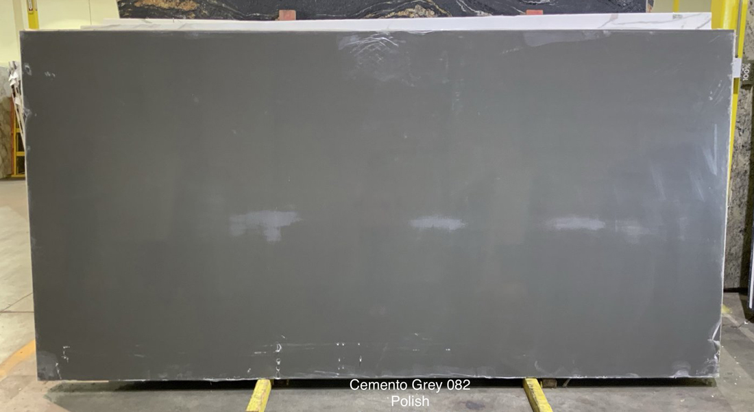 Cemento Grey Quartz Slabs Polished Artificial Stone Slabs