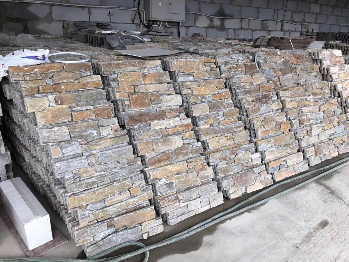 Cheap Wall Stone Rusty Slate Wall Cladding