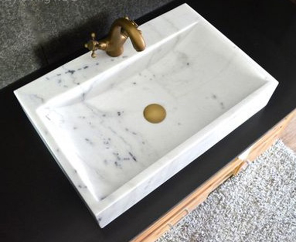 Cheapest Chinese Guangxi White Marble Wash Basin