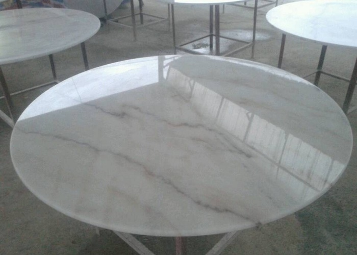 Cheapest Chinese Guangxi White Round Marble Table Tops