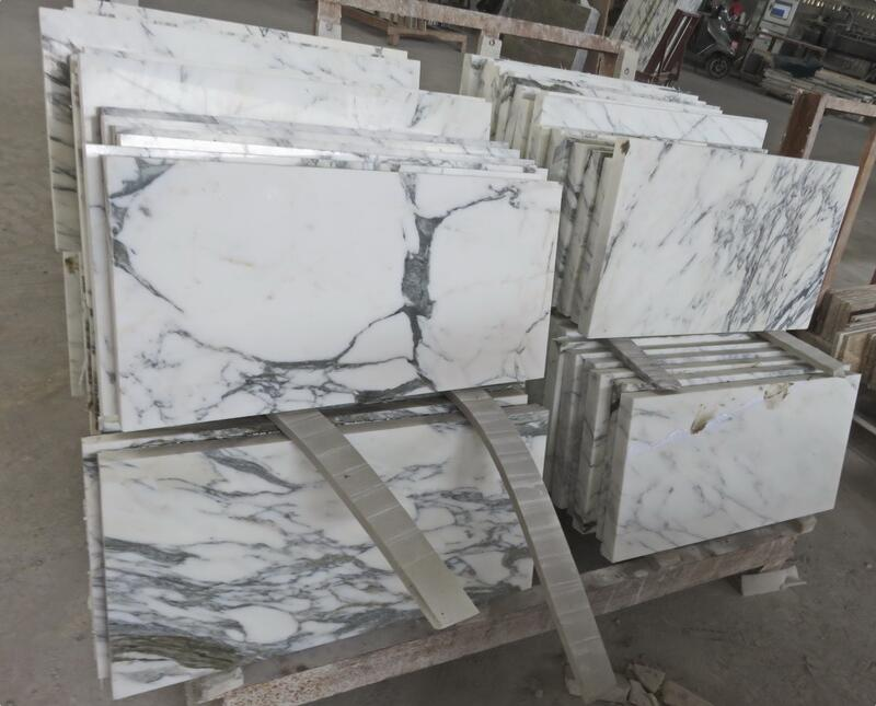 China Arabescato Tiles Polished White Marble Flooring Tiles