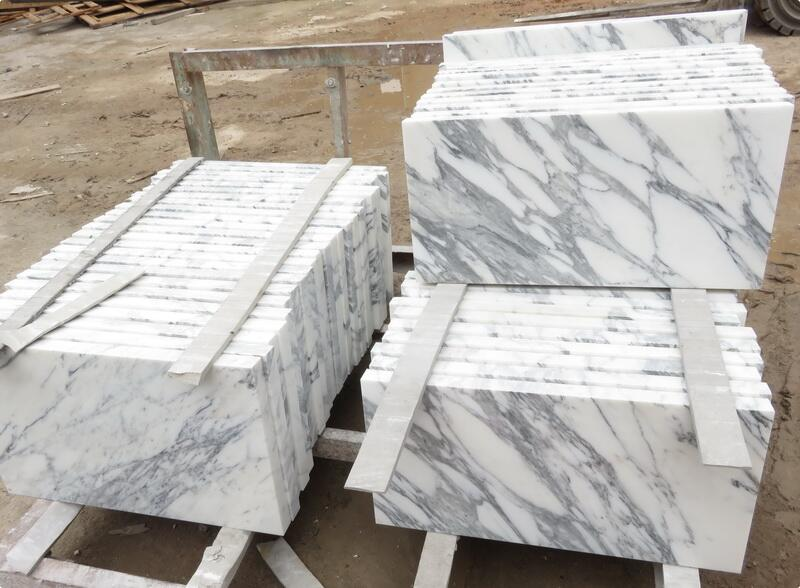 China Arabescato Tiles Top Quality White Marble Flooring Tiles