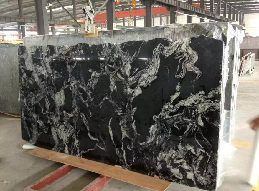China Cosmos Black Granite Polished Slab