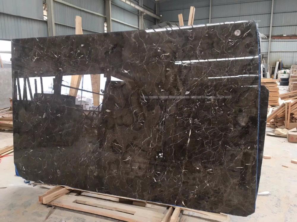 China Dark Emperador Grey Marble Slabs