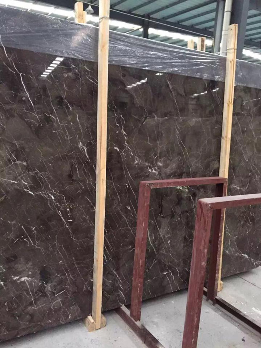 China Emperodor Marble Slabs Polished Dark Brown Marble Slabs