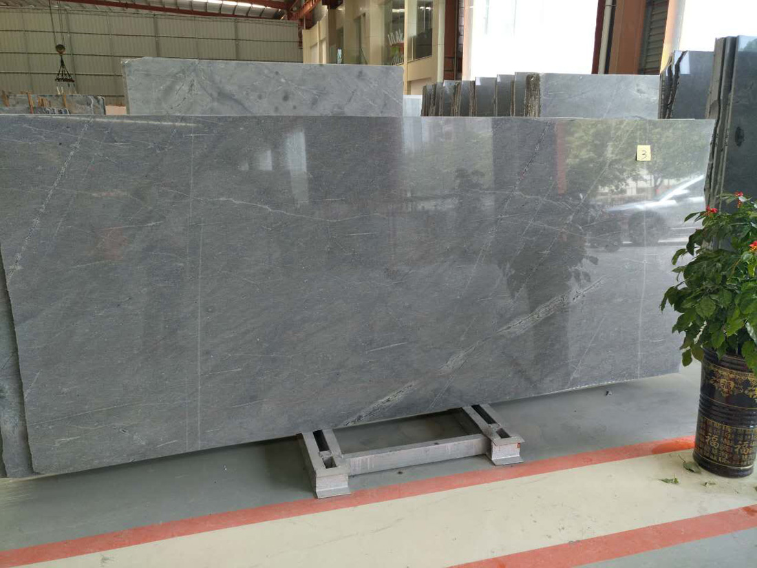 China Grey Galaxy Gray Silver Grey Antique Marble Slabs