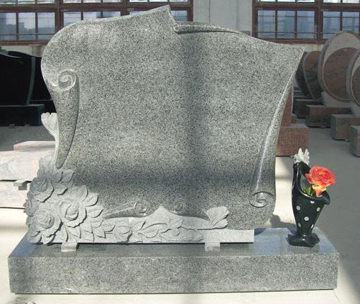 China Grey Granite Tombstone Monument
