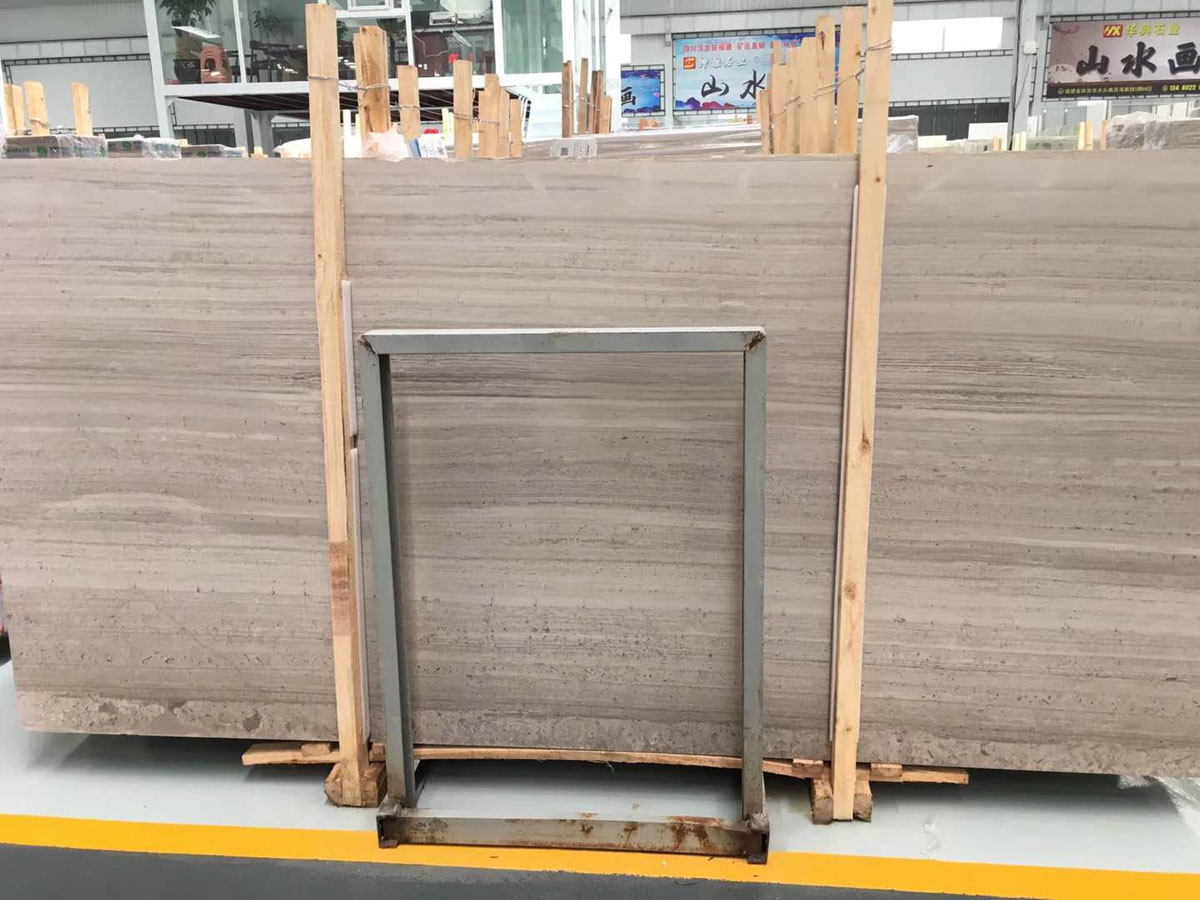 China Grey Wooden Marble Slabs