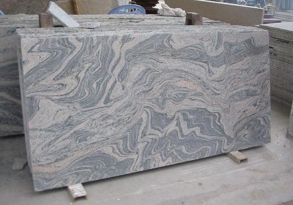 China Juparana Grey Granite Slabs for Kitchen Countertops
