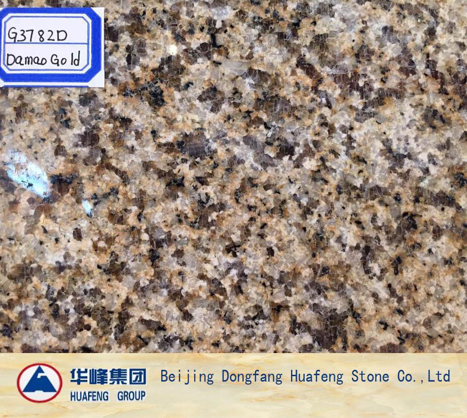 China New Diamond Golden Granite Tiles and Slabs