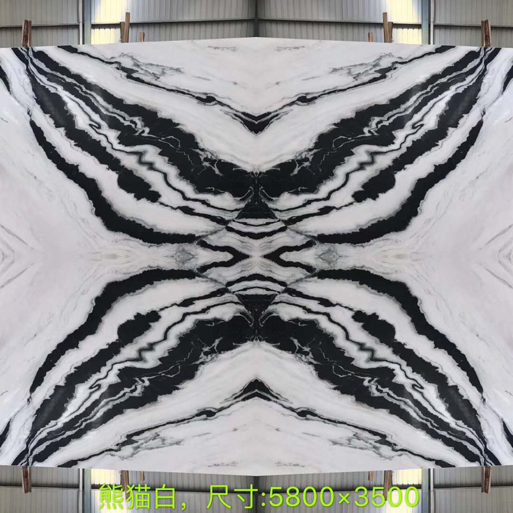China Panda White Marble Slabs White Marble with Black Veins Marble