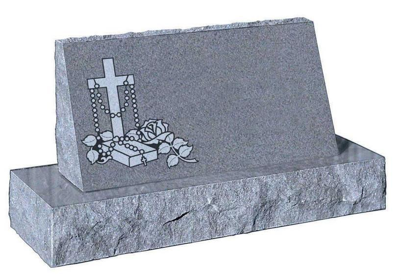 China Polished Grey Granite Tombstone