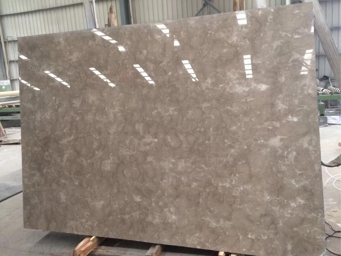 China Polished Lady Brown Marble Slabs