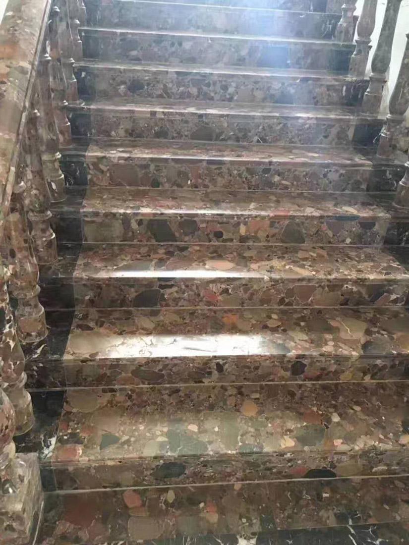 China Red Marinace Granite Stairs Steps
