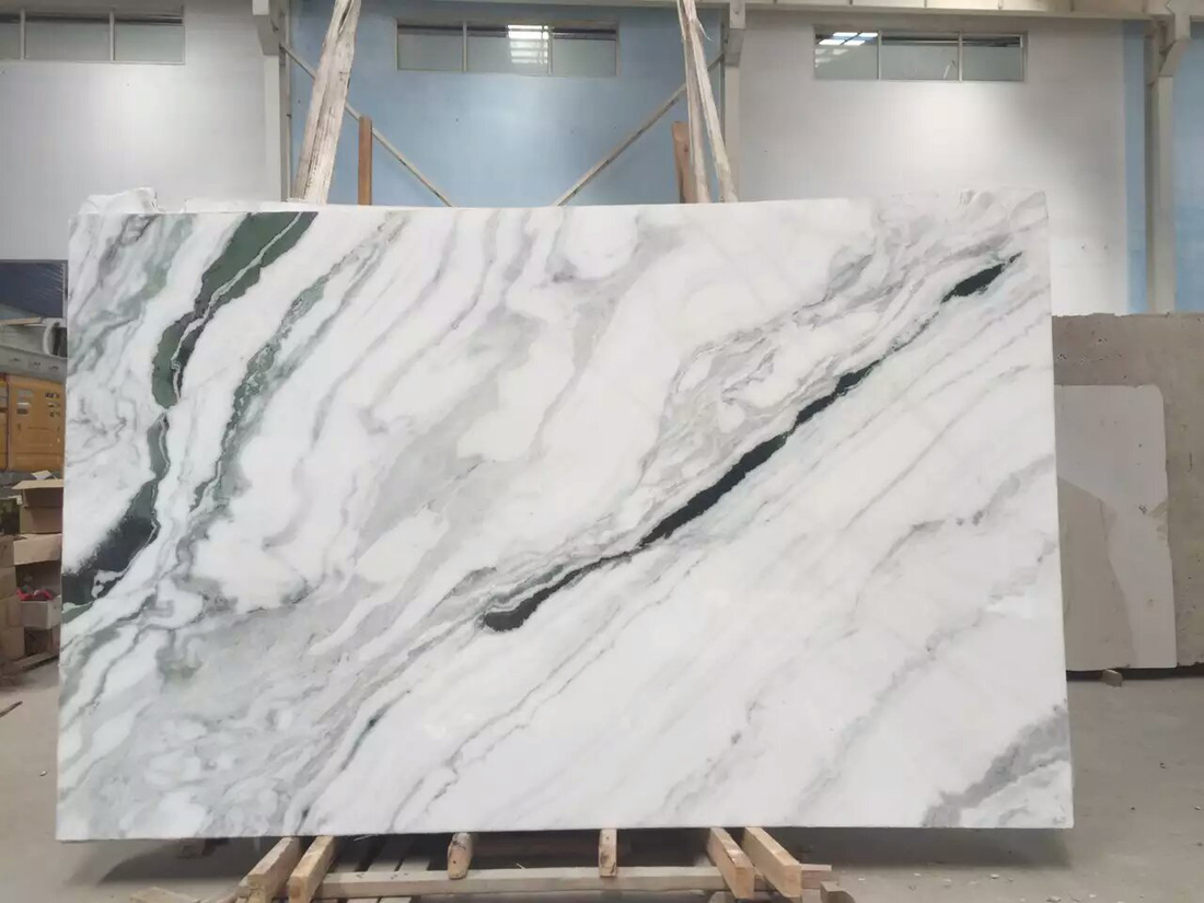 China White Marble with Black Veins Marble Slabs