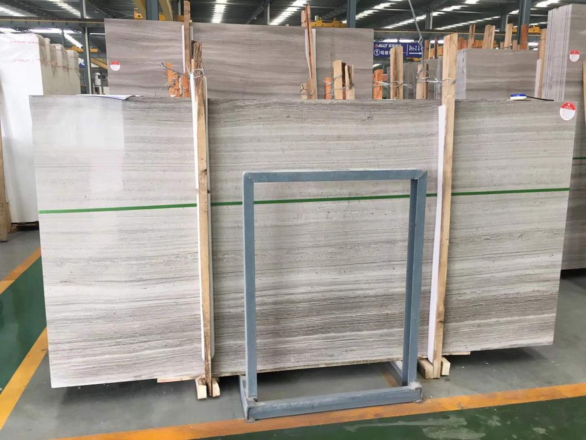 China Wooden Marble Slabs Tiles China Grey Marble