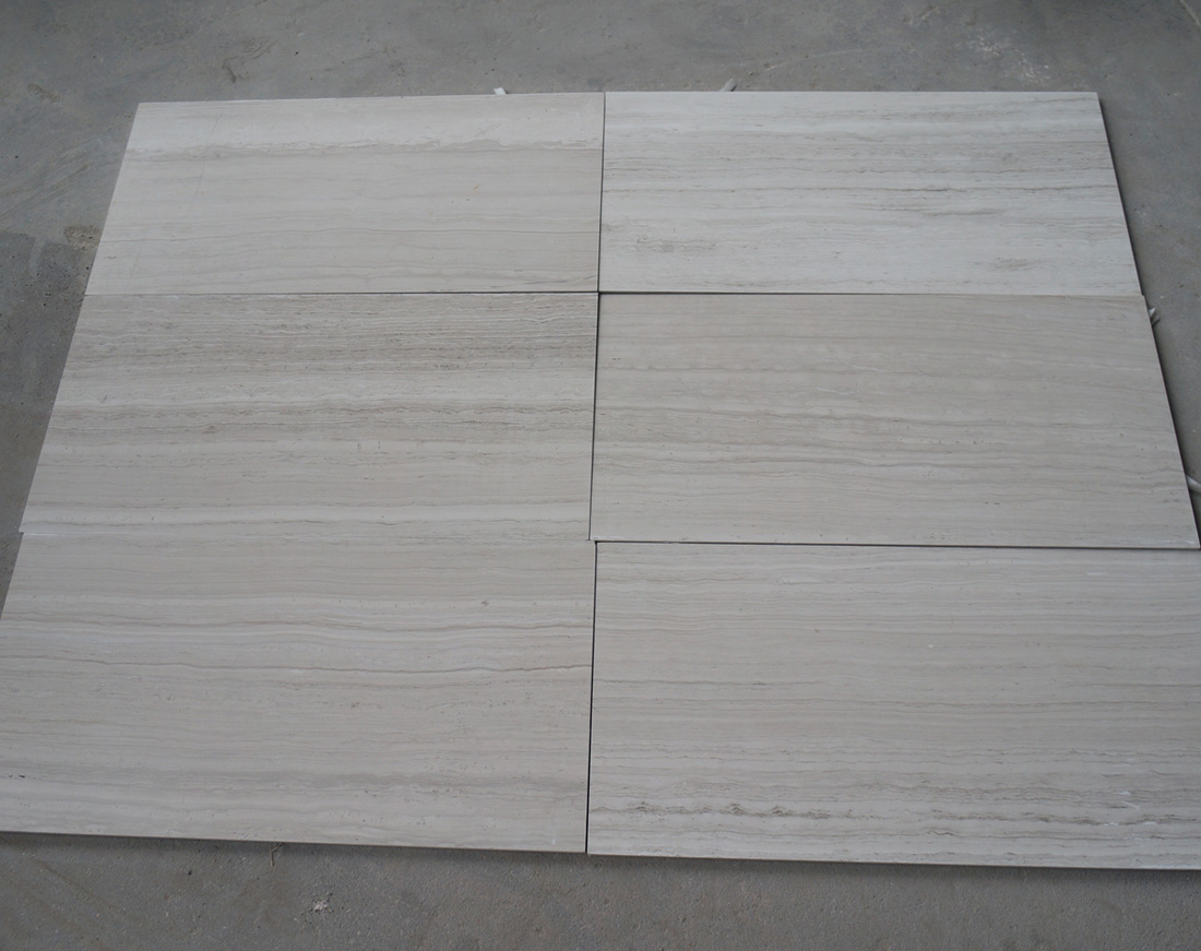 China Wooden White Marble Tiles Polished White Marble Flooring Tiles