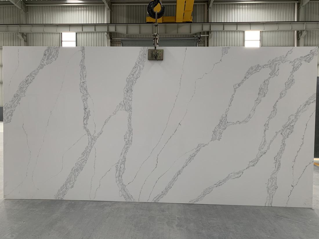 China calacatta quartz slab 8803