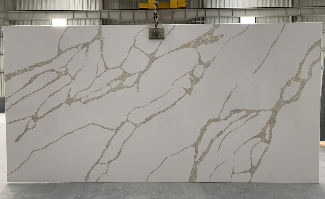 China calacatta quartz slab 8816