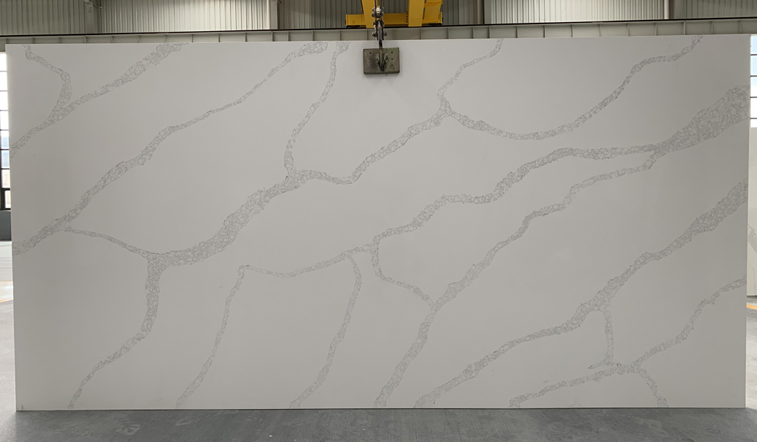 China calacatta quartz slab 8821