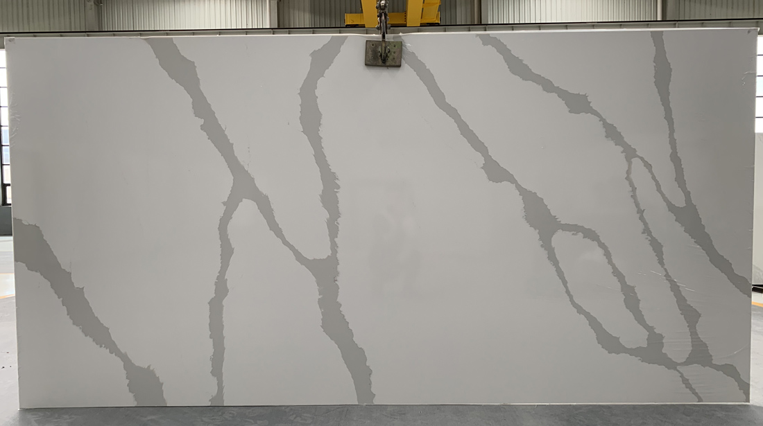 China calacatta quartz slab 8823