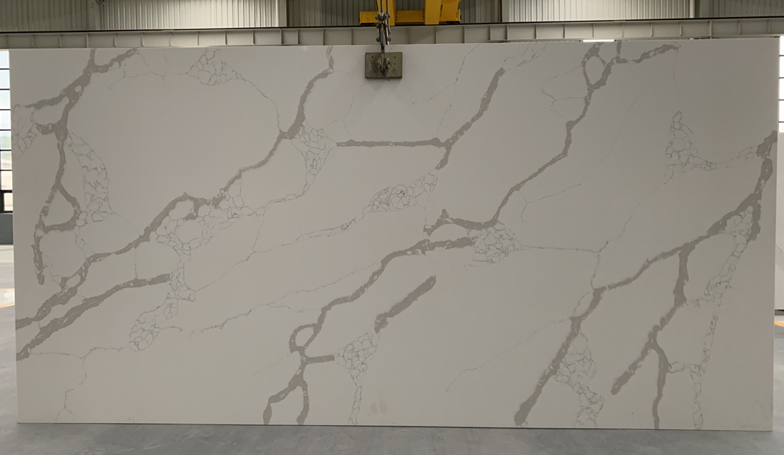 China calacatta quartz slab 8829