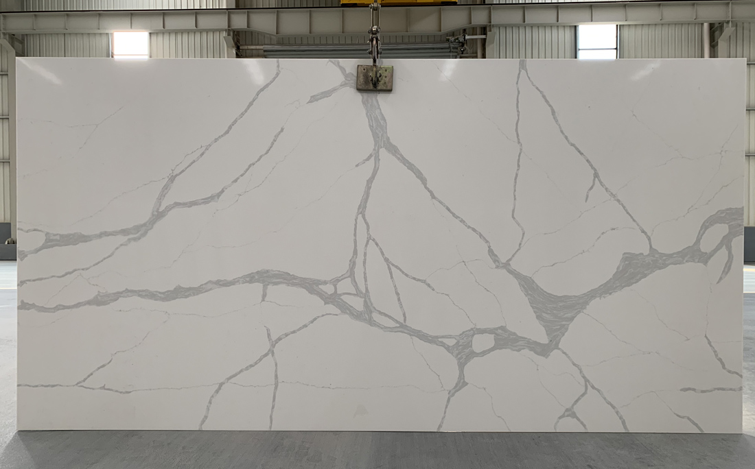 China calacatta quartz slab 8830