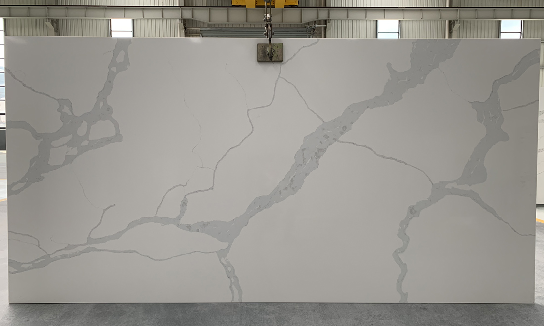 China calacatta quartz slab 8835