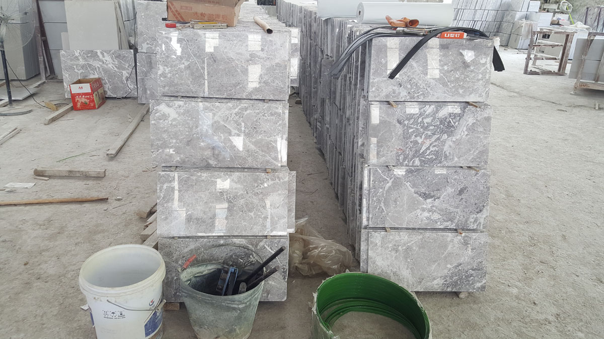 Chinese Arab Grey Marble Tiles for Flooring and Walling