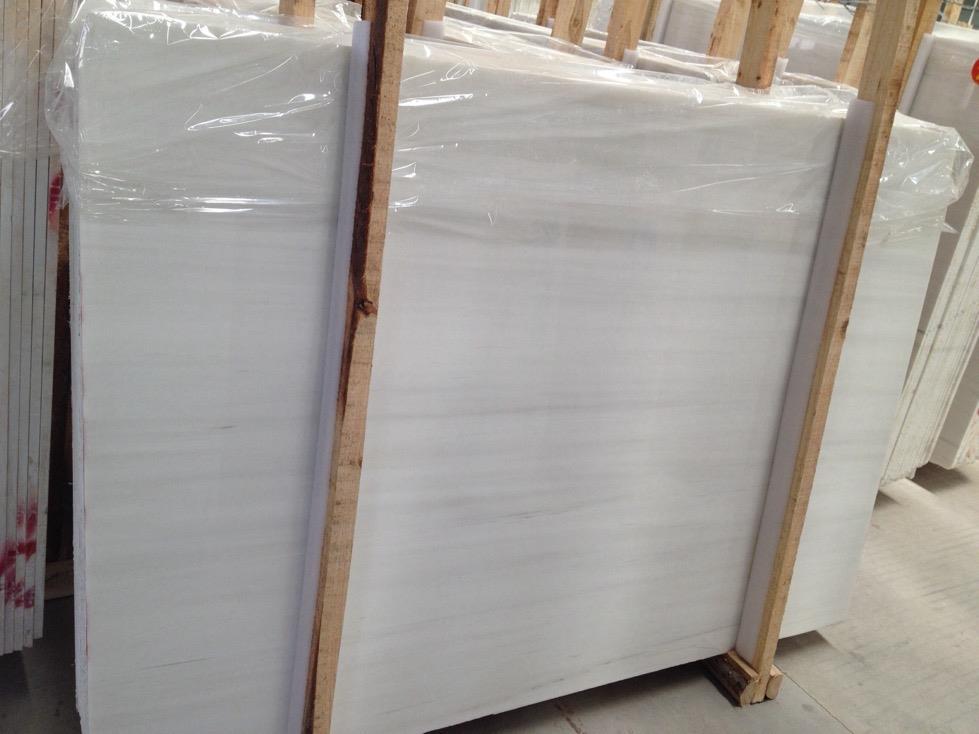 Chinese Bianco Dolomiti Marble Polished White Slabs