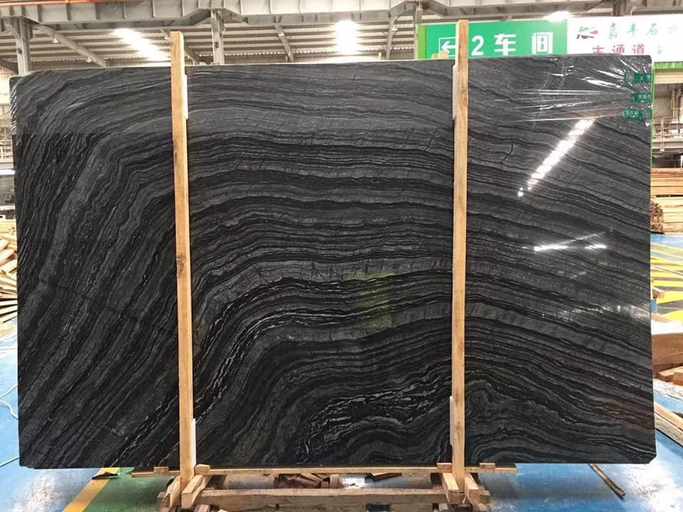 Chinese Black Forest Marble Slabs Polished Black Slabs
