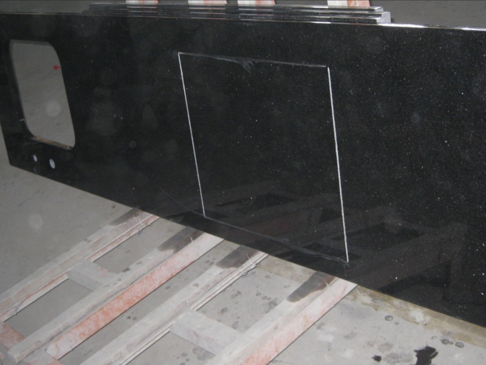 Chinese Black Granite Kitchen Countertops