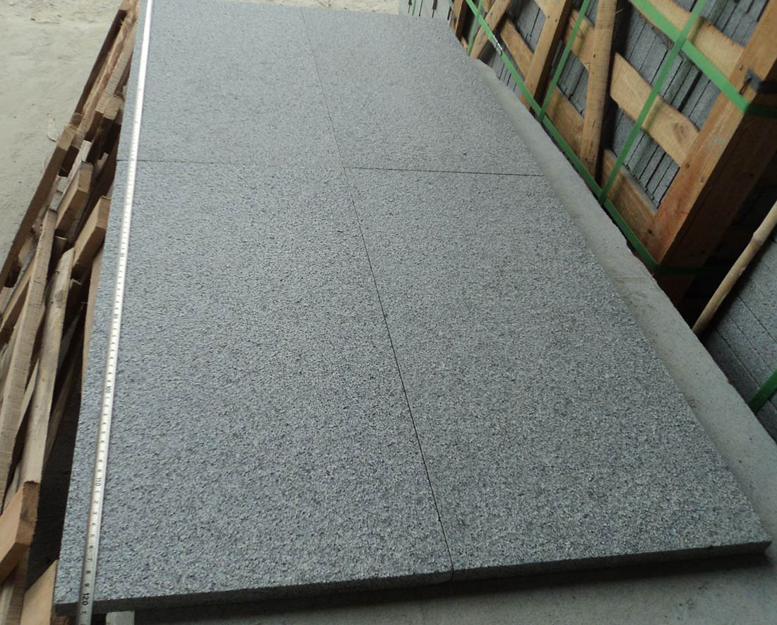 Chinese Black Granite Tiles G654 Granite Flamed Tiles