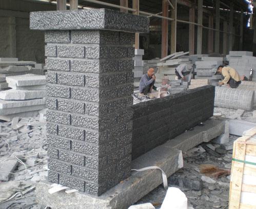Chinese Black Granite Wall Stone