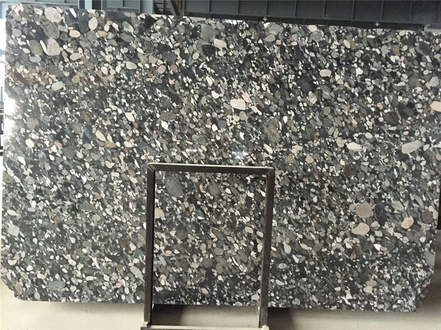 Chinese Black Mosaic Marble Big Slabs