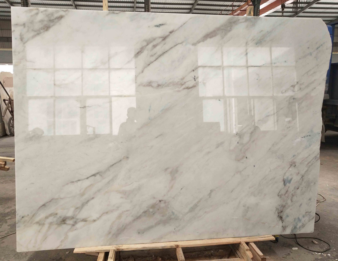 Chinese Calacatta Marble Slabs Polished White Marble Slabs