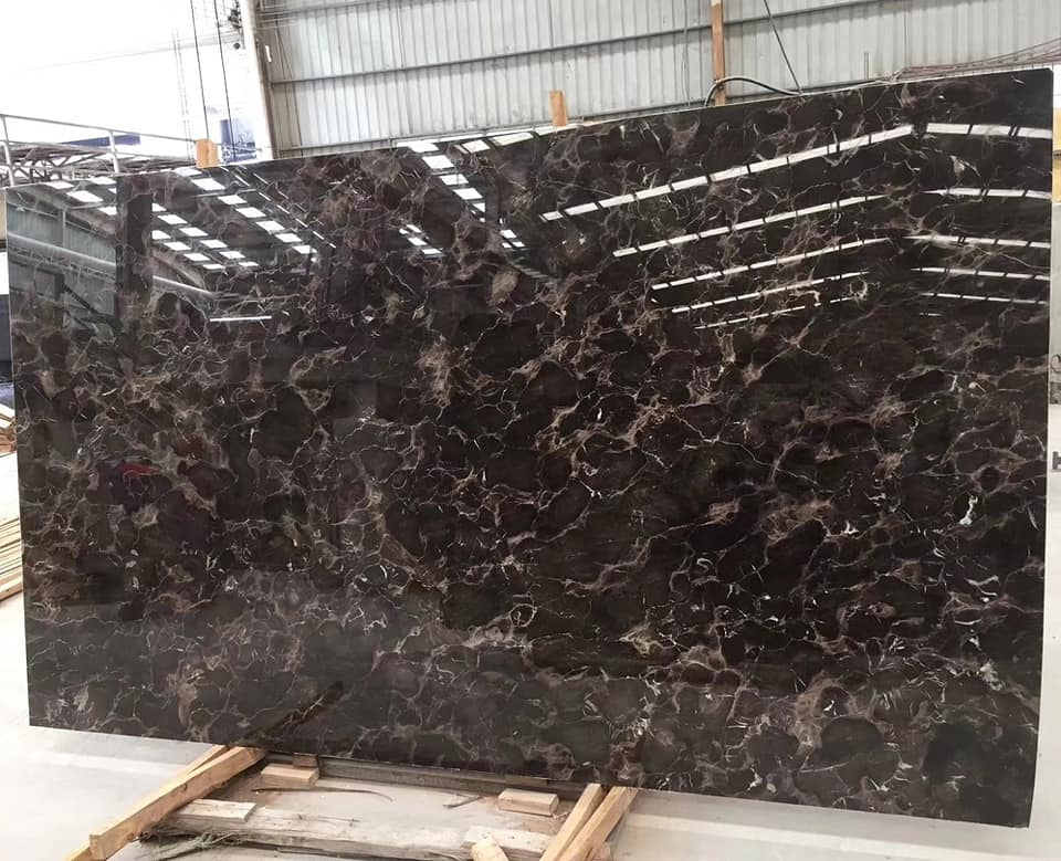 Chinese Dark Emperor Marble Slab Polished Natural Stone Slabs