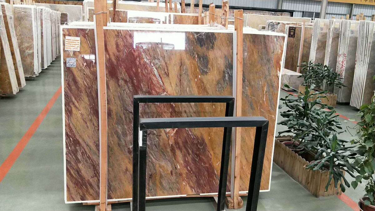 Chinese Dragon Red Marble Slabs