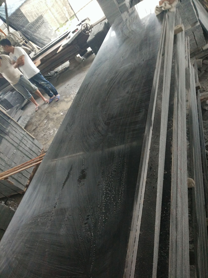 Chinese Dyed Black Granite Countertops