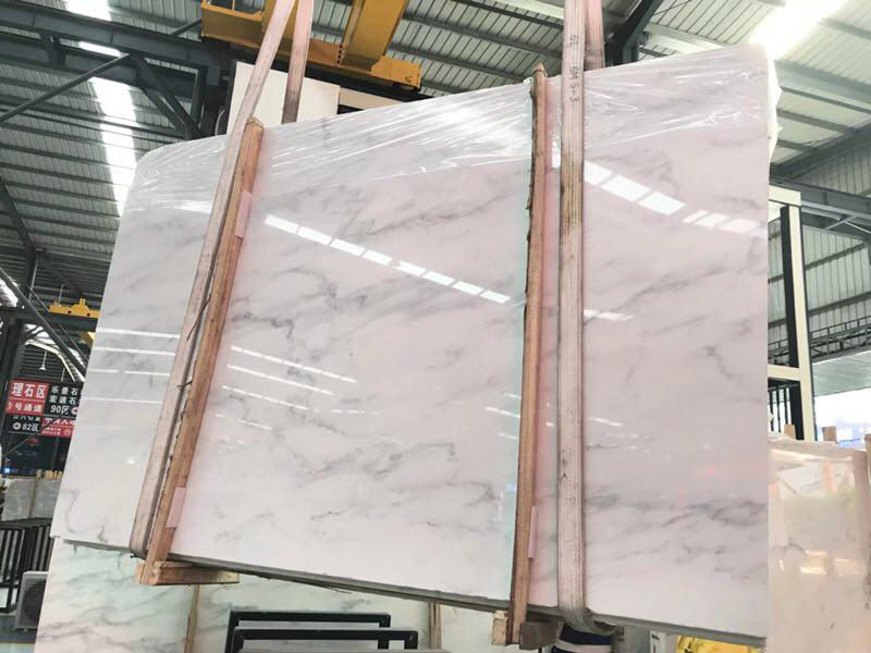 Chinese East White Marble Polished Slabs