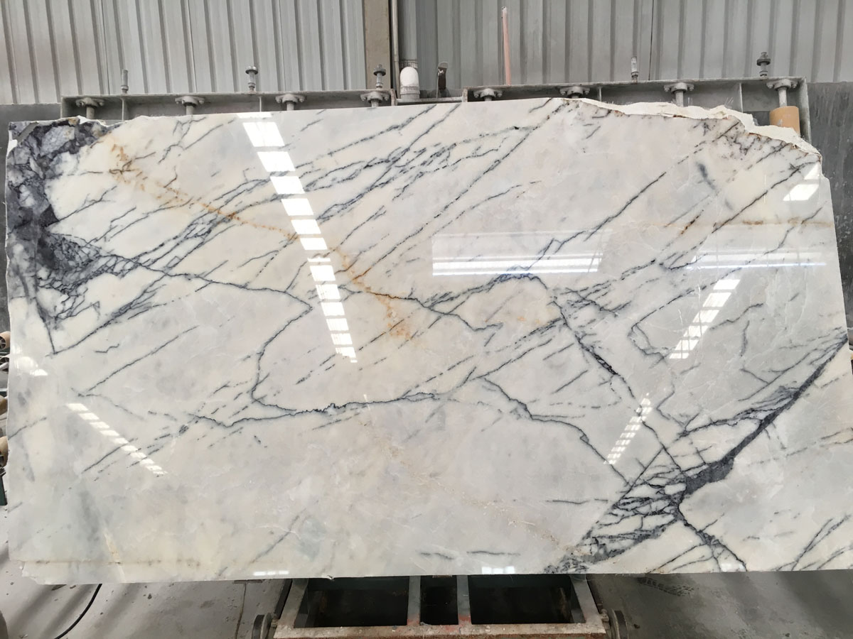 Chinese Fragrant Snow Plum Blossom White Marble Slabs