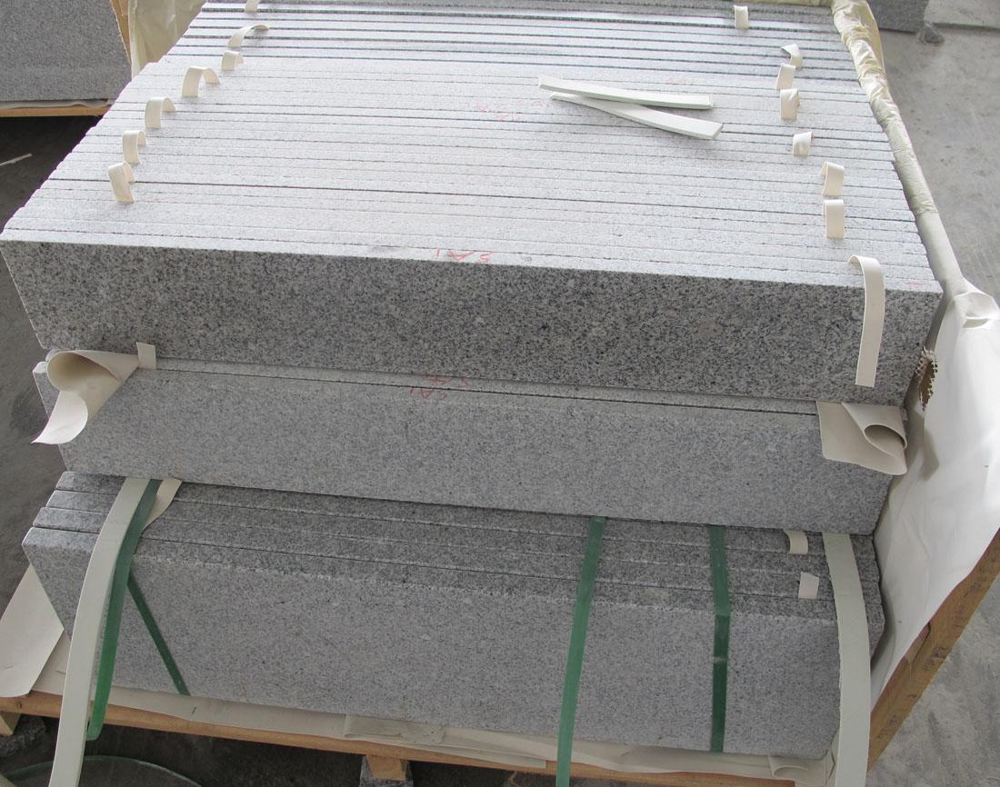 Chinese G603 Stair White Granite Stone Stairs