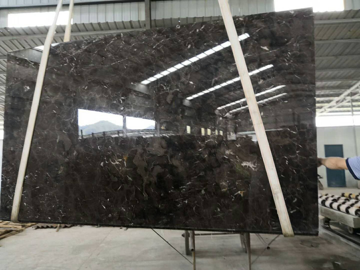 Chinese Golden Net Marble Slabs Coffee Net Marble