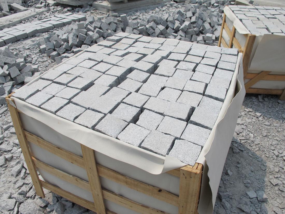 Chinese Granite Stone White Cubic Stone