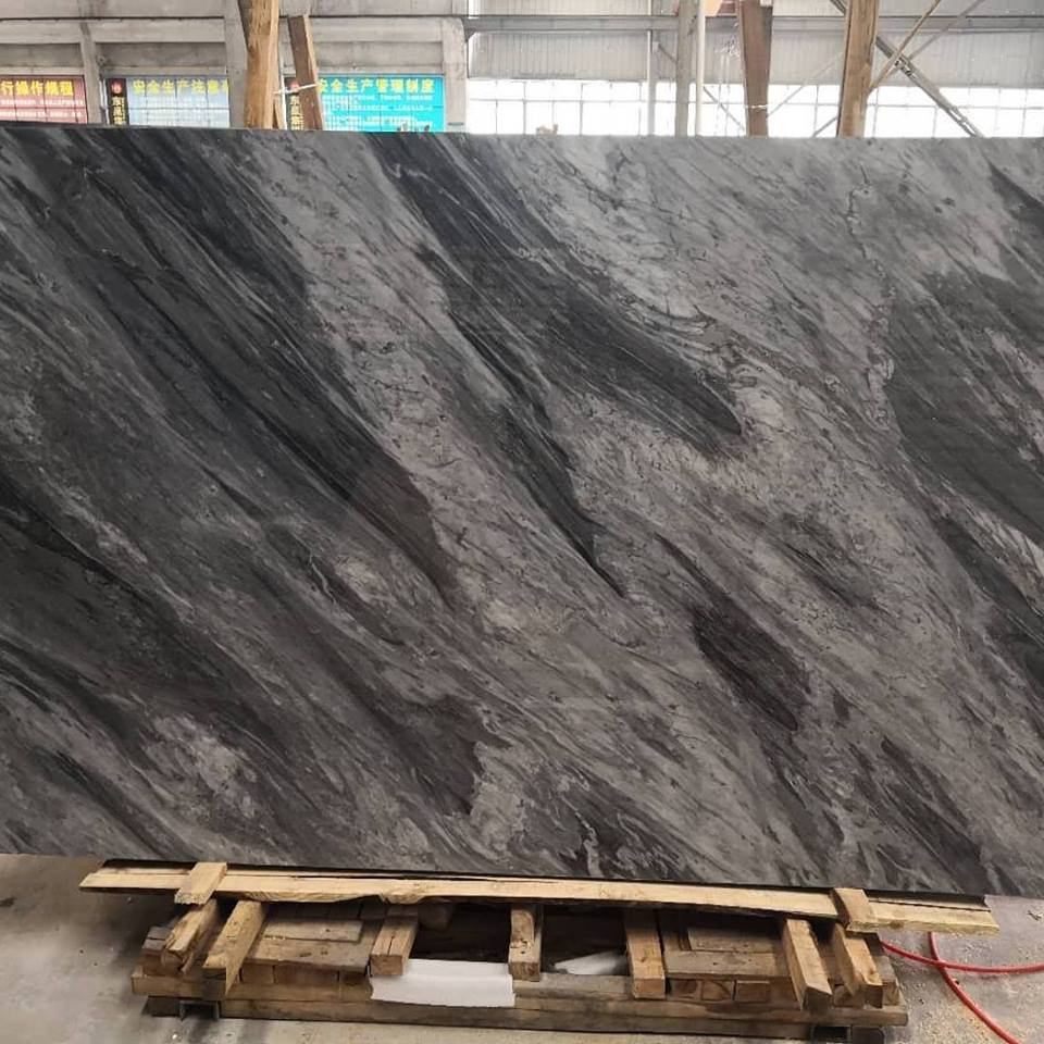 Chinese Grey Marble Slabs Bardiglio Polished Marble Slabs
