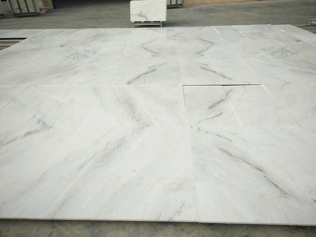 Chinese Jiashi White Marble Tiles Polished White Marble Tiles